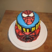 Spiderman Cake   For my son's 4th birthday