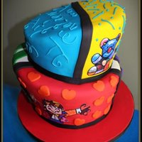 Britto Theme Cake Colorful Birtto Cake