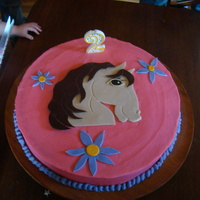 Horse Cake My two year olds birthday cake!
