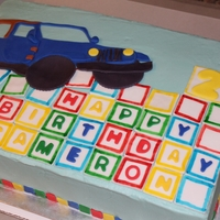 Jeep 2Nd Birthday Cake Jeep Cake for a little boy's 2nd Birthday