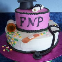 Graduation Family Nurse Practitioner graduation cake