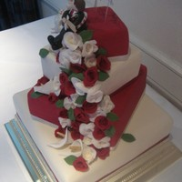 Christmas 4 Tiered Wedding Cake Christmas 4 Tiered Wedding Cake