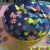 Romantic Cake this is a small birthday cake for an 18 year old girl, it is really purple, not blue as it appears to be on the photo...it was very fun to...