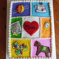 Memory Quilt Cake a cake for a luncheon following a funereal