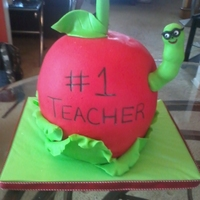 Techers Apple This was for my daughter's 2nd grade teacher who was retiring. She was such a great teacher, and my daughter LOVED her (sometimes I...