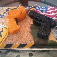 Army/construction This was a 40th Bday cake for an army vet who is currently working as a construction worker. I wasnt sure exactly how to mix the two at...