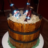 Miller Lite Beer Bucket Just another Beer Bucket cake to add to the many on here.Edible bottles, real labels...