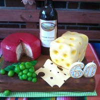Wine And Cheese This was for my father's 60th birthday- He is a major wine enthusiast so I wanted to do something to show that- and you cant have wine...