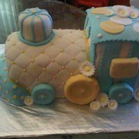 Baby Boy Shower Train This was my very first 3D cake- Drove me nuts! LOL But all came together in the end!
