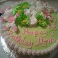 Your Special Day Butter Cream Frosting with flowers made with Fondant