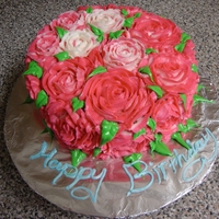 Rose Cake I made this cake for a friends birthday who loves roses.