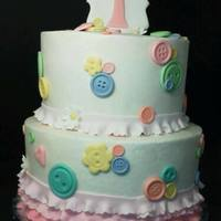 Jackies Buttons And Ruffels Cake