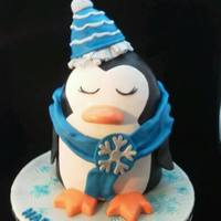 Penguin Cake Is Double Chocolate Cake Filled With Espresso Buttercream And Iced In Ganache And Covered In Fondant Party Hat Is Rkt Oop Penguin cake is Double Chocolate cake filled with Espresso Buttercream and iced in Ganache and covered in fondant... Party hat is RKT ......