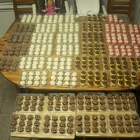Donation Mini Cupcakes For Fire Department these are the 479 mini cupcakes I donated to the volunteer fire departments grand opening of their new fire station. Chocolate cake with...