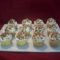 Buttered Pecan Cupcakes Buttered pecan cupcake with buttercream frosting topped with pecans toasted in butter) these were a test batch normally they would be with...