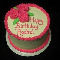 Pink Rose Birthday Cake pink rose birthday cake. cake is buttered pecan