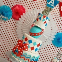 Circus Carnival Themed Cake   Circus / carnival themed cake