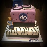 Nurse Themed 40Th Birthday Cake 2 tier nurse theme. All filled sponge covered in fondant.