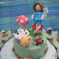 Fairy And Friends for the cake i used for the figures gum paste and fondant and for the cup cake only fondant