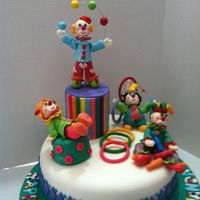 Clowns Cake Vanilla cake ,with fondant