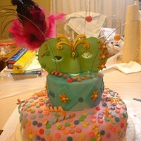 Carnaval Cake with fondant and gum paste,