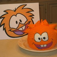 Disney Club Penguin Puffle Chocolate cake with butter cream.