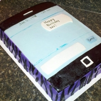 Iphone Iphone cake in text mode with a zebra print cover. Covered in mmf.