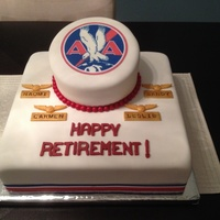 Flight Attendant Retirement Cake