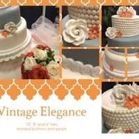 Vintage Elegance Inspired by one of the cakes in the latest issue of Cake Central Magazine. Done in collage format for my website.