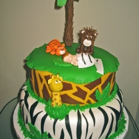 King Of The Jungle Baby Shower Done for a Lion King themed baby shower. (I know the pics suck but I finished this at 1am and the girl was picking it up first thing in the...