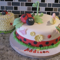 "Another Ladybug Birthday Cake 8"" Cake with 3"" smash cake"