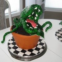 Little Shop Of Horrors I made two cakes for someone who performed in a local production of The Little Shop of Horrors. The plants were made of ceral treats,...