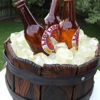 Beer Bottle Ice Bucket Cake My 1st attempt in making sugar bottles. At first I felt very intimidated by it but after much research the instructions posted by MYOM-...