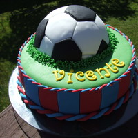 Soccer Ball Birthday Cake First attempt to a sports cake