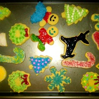 Christmas Cookies   My fiance & I made christmas sugar cookies. We had fun decorating them, just want to share.
