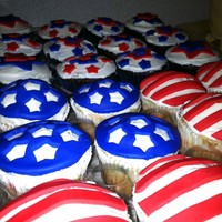 "Stars & Stripes When i was asked to make ""Stars & Stripes"" themed cupcakes for 4th of July, millions of ideas came to mind, but I choose to..."