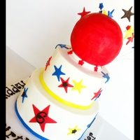 Dodge Ball Birthday Cake Dodge ball is made of RKT. Buttercream with fondant accents