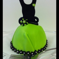 """mini"" Dress   Chocolate cake with chocolate malt whopper bettercreme filling covered in fondant."