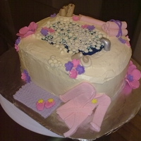 Spa Cake Spa themed cake