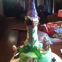 Tangled Cake Chocolate cake with cookies n cream buttercream..