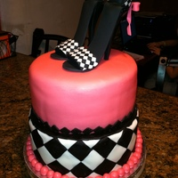 Stiletto Bridal Shower Customer wanted me to make a cake to match the invitation. It was a huge hit!!