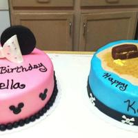 Minnie Mouse Amp Pirate Birthday Cakes   *Minnie Mouse & pirate birthday cakes