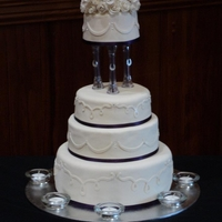 4 Tier Wedding Cake With Roses My 1st ever wedding cake! I hand made over 50 roses for the top