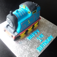 3D Thomas My first attempt at a 3D train cake using Debbie Browns book