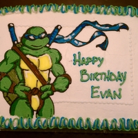 Leonardo For his birthday, my nephew really wanted a ninja turtles cake. Specifically Leonardo, because that had been his Halloween costume. The...