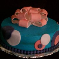 Ribbon Bow Package Cake