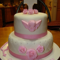 Baptism Cake Granddaughter's baptism cake.