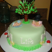 Church Right To Life Dinner Right to Life cake for church dinner.