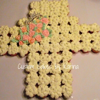 Cupcakes 60 cupcakes in a shape of a cross vanilla cake with Swiss vanilla buttercream