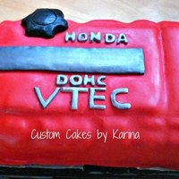 Honda Valve Cover Cake Honda valve cover cake!! it is dominican cake filled with dulce de leche!